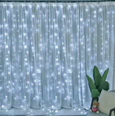 Cool White Curtain Light
