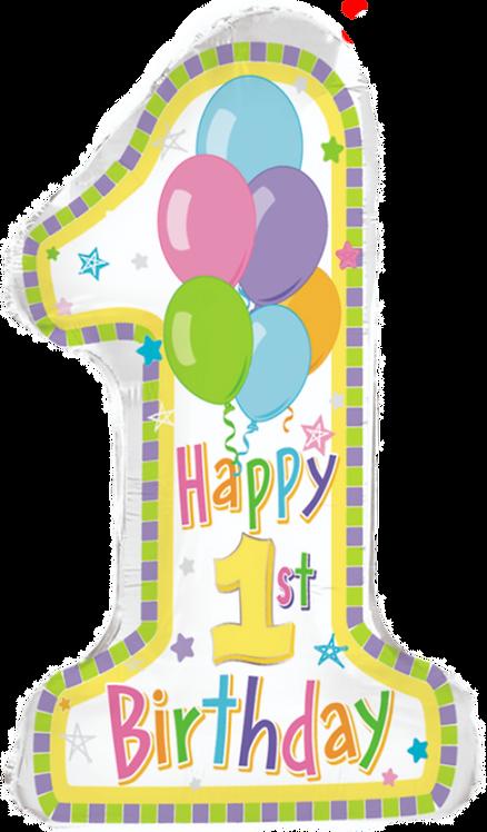 """""""Happy 1st Birthday"""" ~ 31 Inch"""