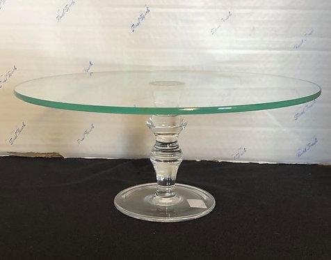 "10"" Glass Cake Stand"