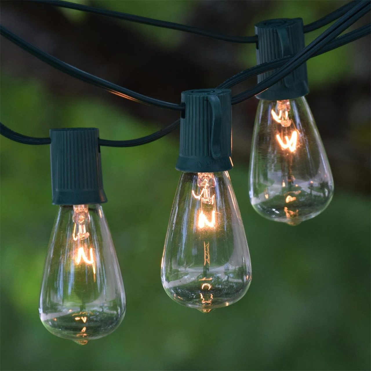 Green String Edison Lights