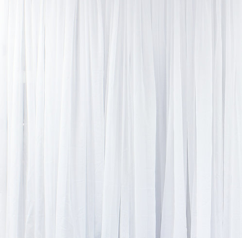 14' Long ~ White Sheer