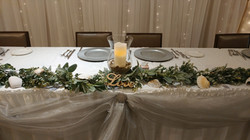 Greenery w/Silver Accent Reception