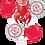 Thumbnail: 4 x 18in + 1 x Large Mylar Balloon Bouquet