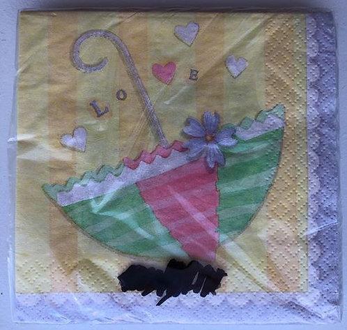 """Love"" Baby Shower Paper Napkin - 25 Pack"