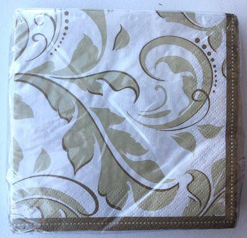 Gold Anniversary Paper Napkins - 25 Pack