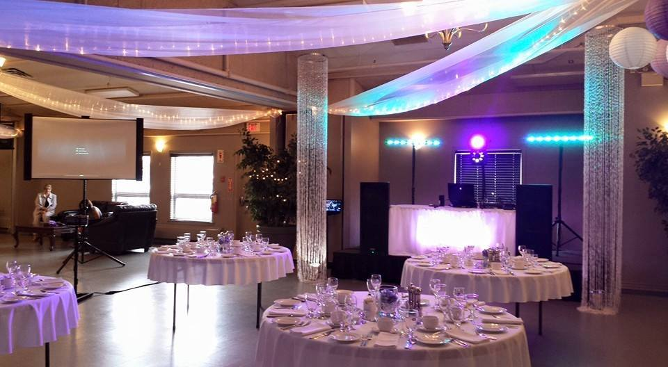 White Reception & DJ Table