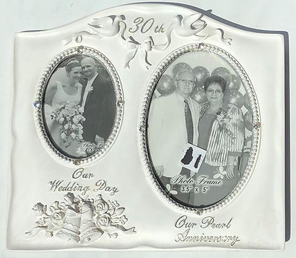 """30th"" Pearl Anniversary Photo Frame"