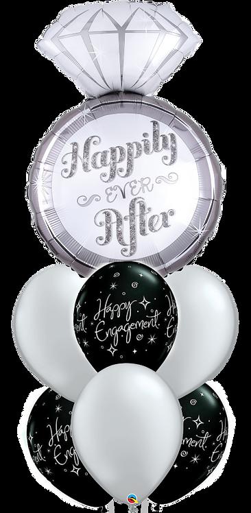 6x11in + 1xLarge Balloon Bouquet