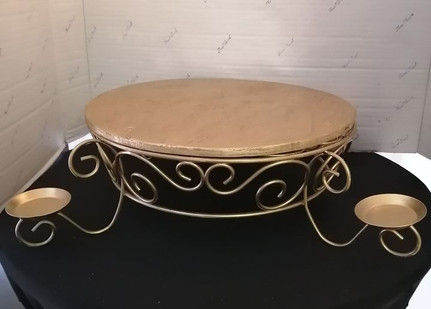 """14"""" Gold Cake Stand"""