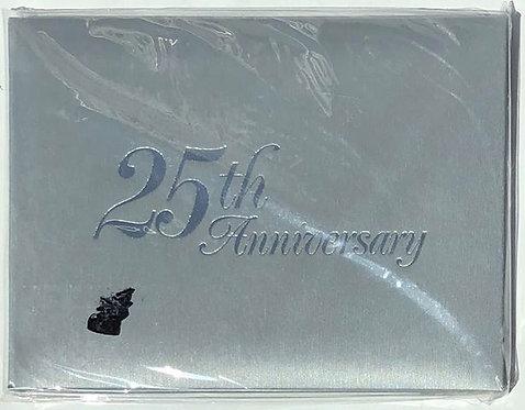 """""""25th Anniversary"""" Silver Photo Album"""
