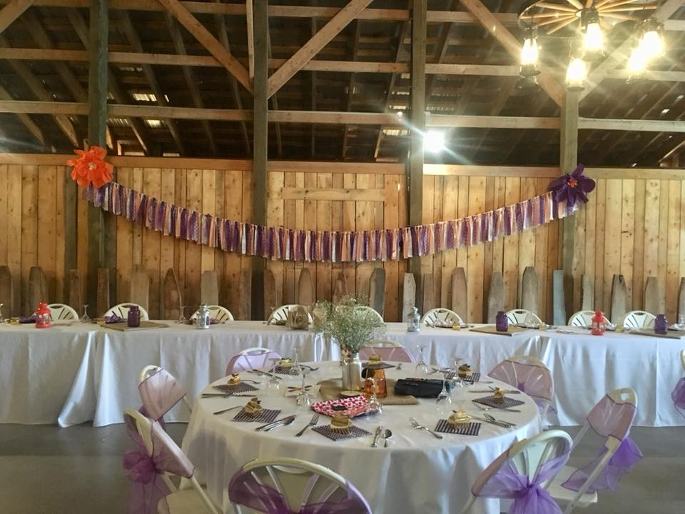 Purple & Gold Reception