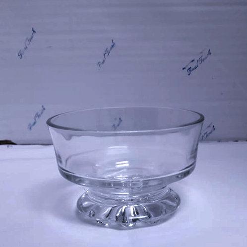 Round w/Patterned Short Stem Vase