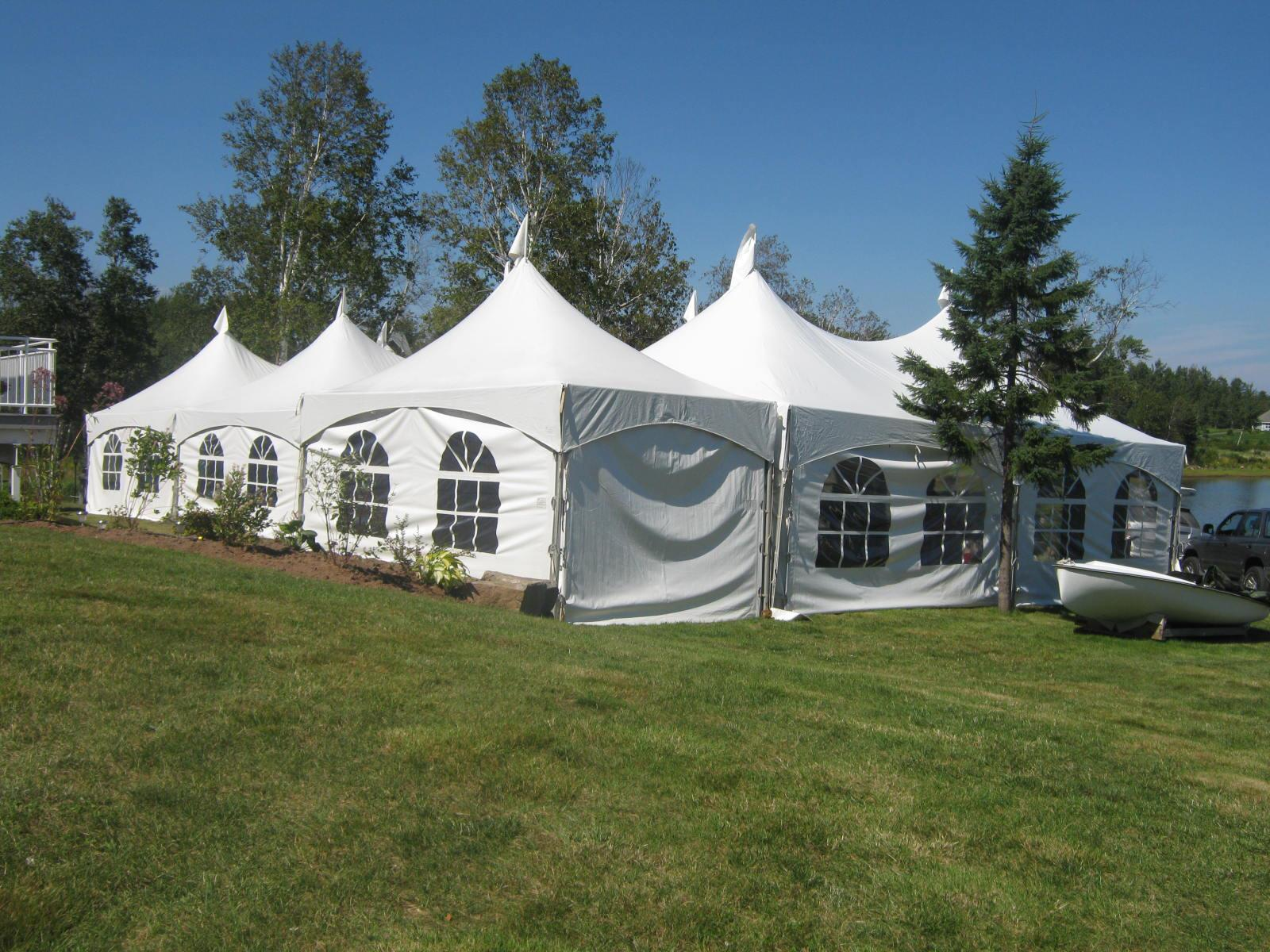 30'x60' Tent w/10'x20' Attachment - Outside View