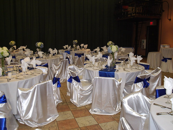 White & Royal Blue Reception