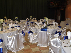 Royal Blue & Universal Chair Covers - Glasgow Square