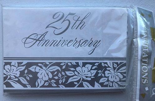 25th Anniversary Invitations - 8 Pack
