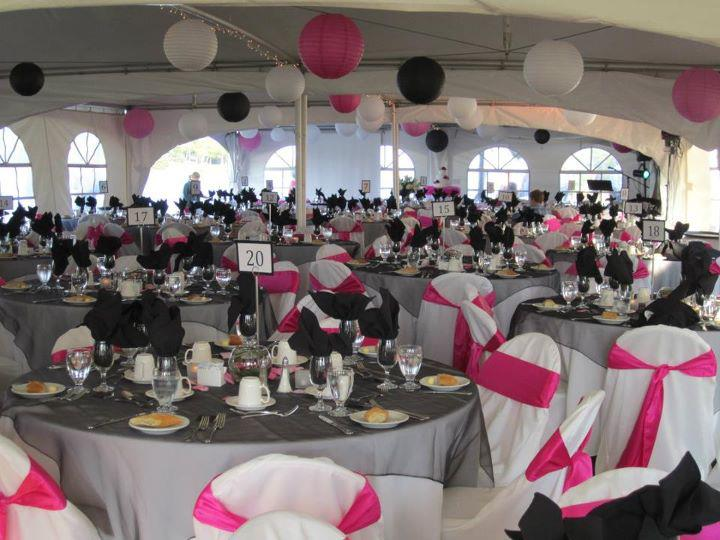 Pink & Black Reception