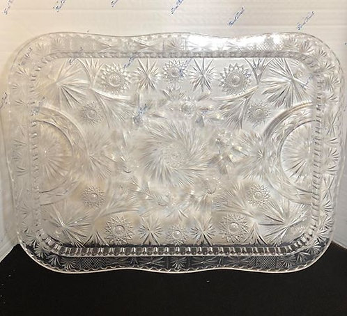 """24""""x18"""" Clear Serving Tray"""