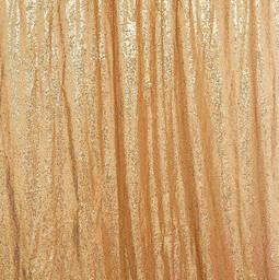 8' Long ~ Gold Sequin Sheer