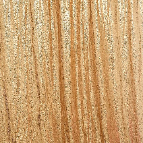 Gold Sequin Sheer Panel