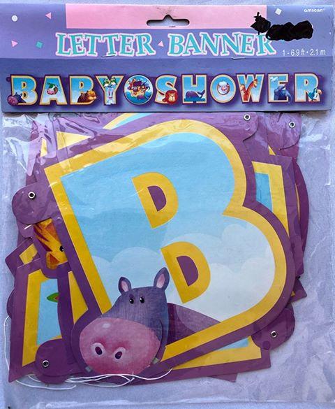 """""""Baby Shower"""" Animal Letter Banner"""