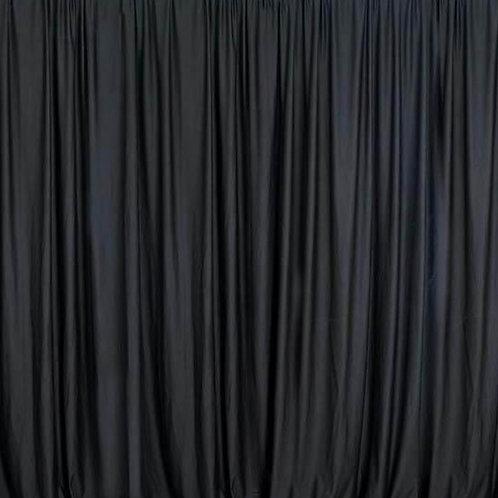 8' Long ~ Black Semi-Solid