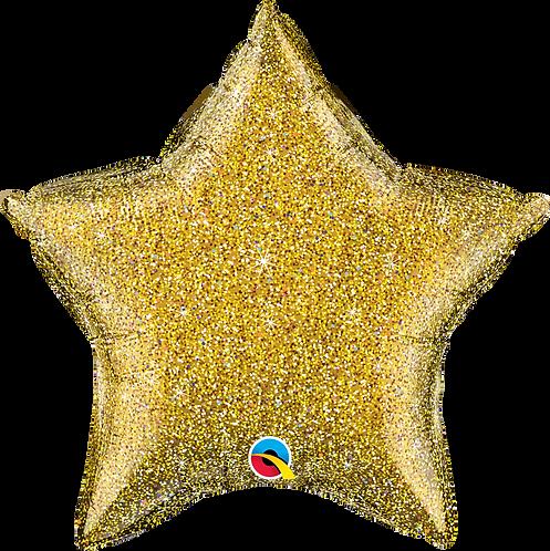 Glitter Gold Star ~ 20 Inch