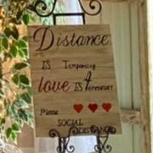 """""""Distance Is Temporary ..."""" ~ White Plaque"""