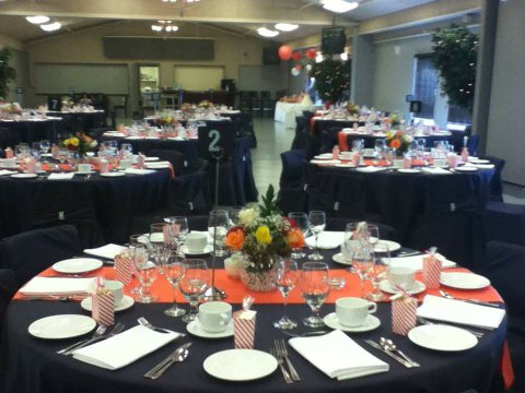 Orange & Black Reception