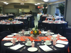 Orange & Black Reception