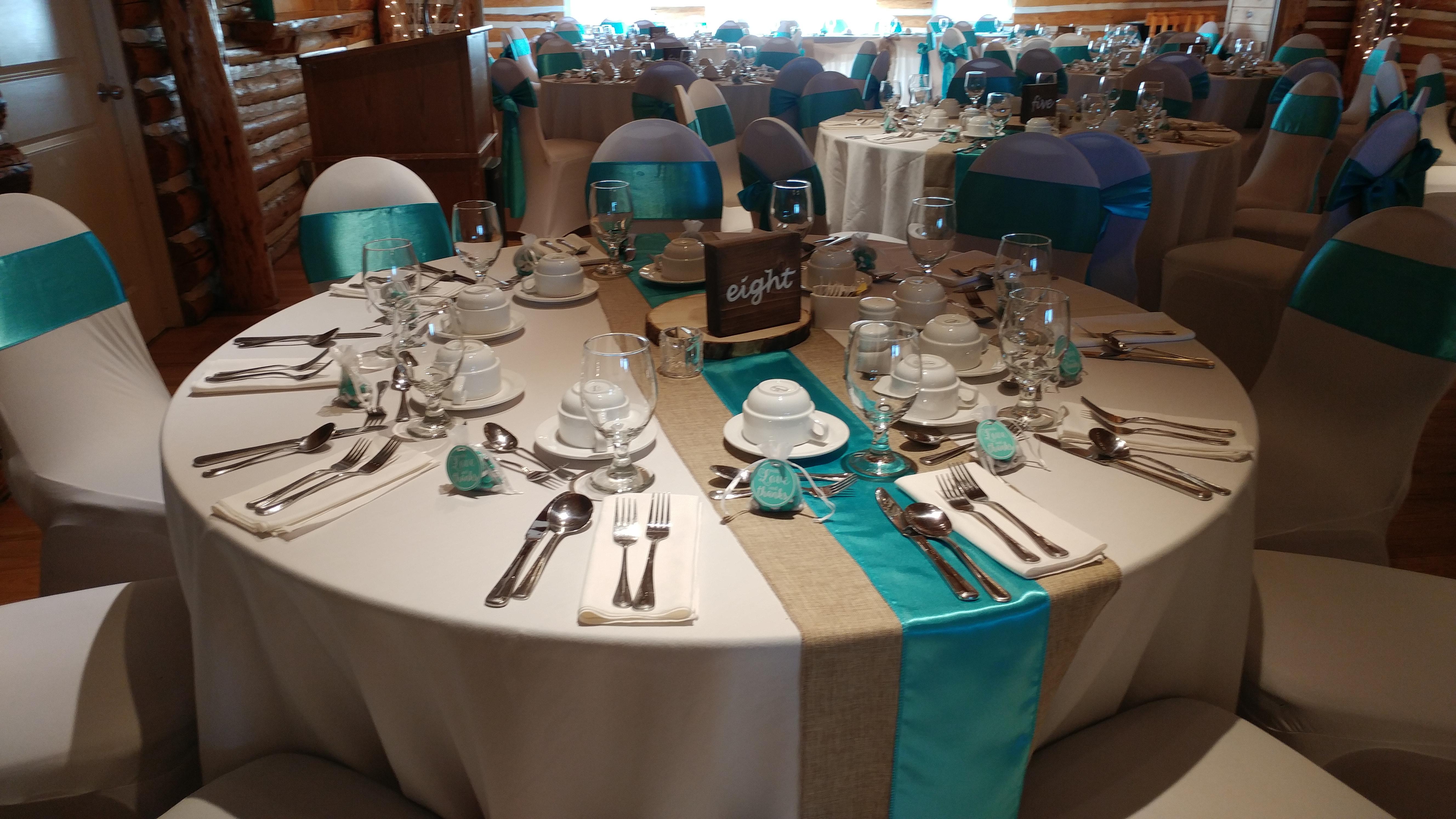 Coral & Aqua Reception