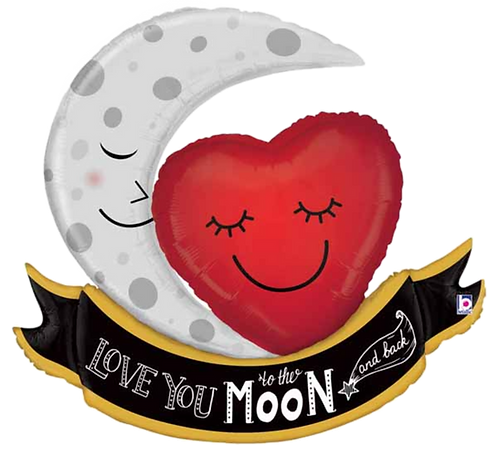 """LYTTMAB"" Moon & Heart ~ 42 Inch"