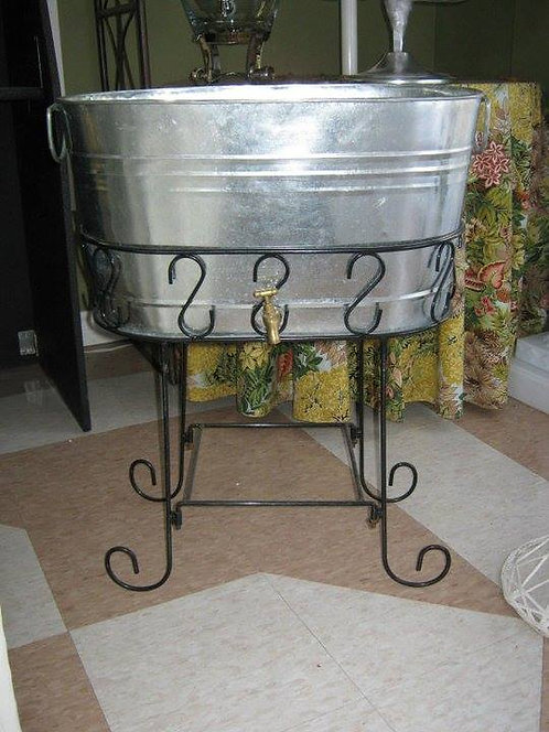 Oval Beverage Tub w/Stand
