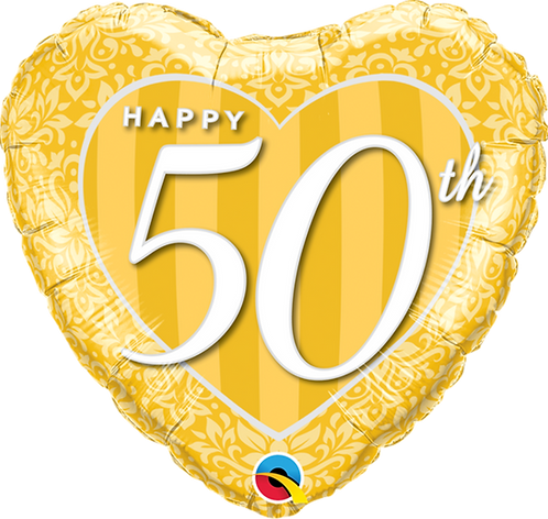 """Happy 50th"" ~ 18 Inch"