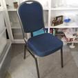 Navy Banquet Chair