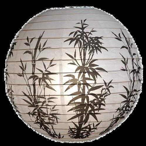 """16"""" - Paper Chinese Lantern - Black & White Trees"""