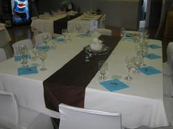 Brown & Blue Reception
