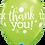 "Thumbnail: ""Thank You"" ~ 11 Inch"