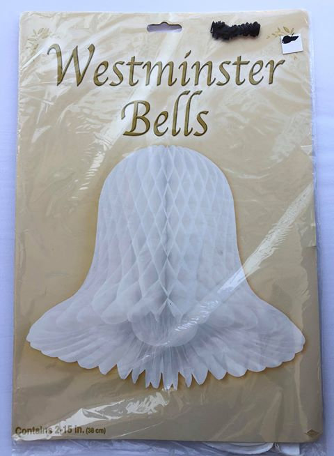 Westminster Paper Bells - Hanging Decoration - 2 Pack