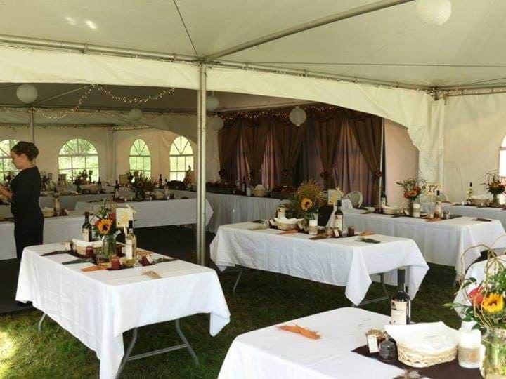 30'x60' Tent - Inside Mid Setup