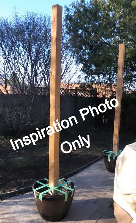 Wooden Light Pole