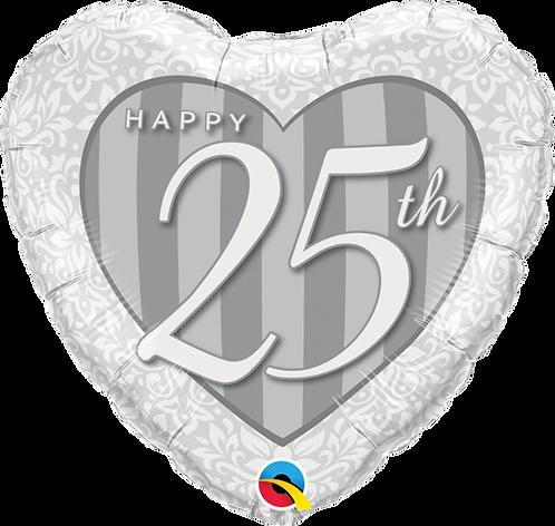 """Happy 25th"" ~ 18 Inch"