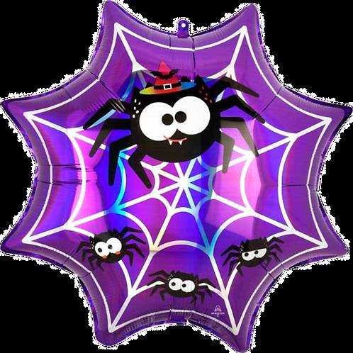 Purple Spiderweb ~ 22 Inch