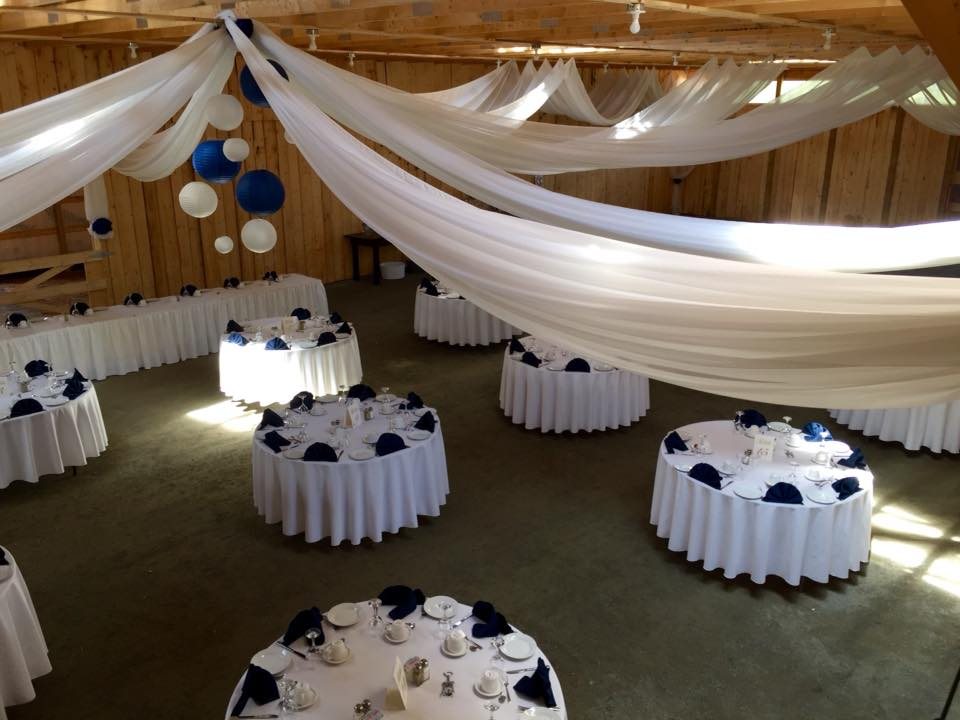 White & Navy Reception