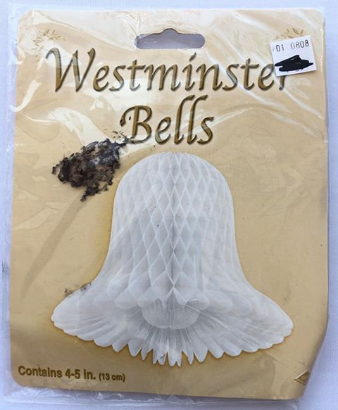 Westminster Paper Bell - Hanging Decoration - 4 Pack