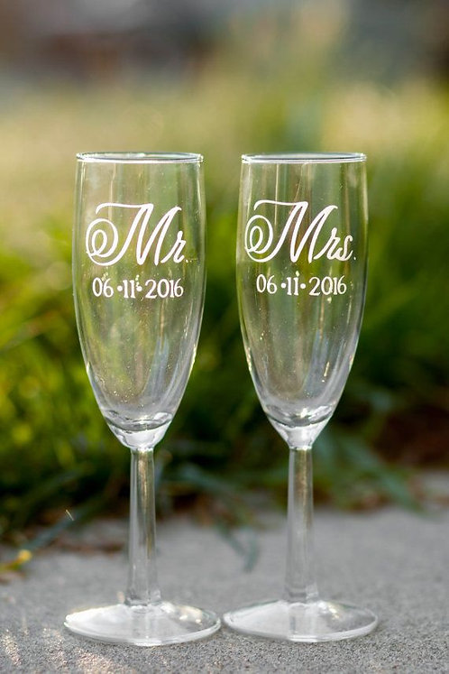 Customized Champagne Flute Set
