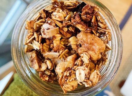 banana walnut granola