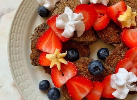 banana buckwheat blender pancakes