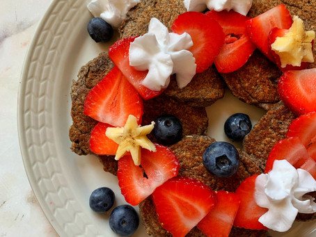 banana buckwheat blender pancakes