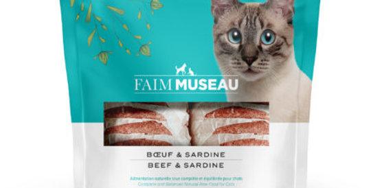 Faim Museau - Boeuf et Sardines POUR CHAT 6lbs